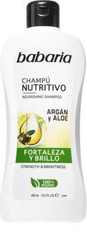 Babaria Aloe Vera szampon odżywczy z olejkiem arganowym