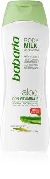 Babaria Aloe Vera тоалетно мляко за тяло с витамин Е
