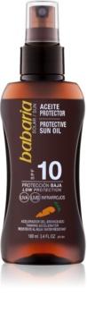 Babaria Sun Protective olej na opaľovanie SPF 10
