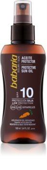 Babaria Sun Protective ulei pentru plaja SPF 10