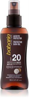 Babaria Sun Protective óleo bronzeador em cápsulas  SPF 20