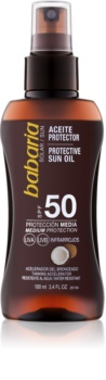 Babaria Sun Protective αντηλιακό λάδι σε σπρέι SPF 50