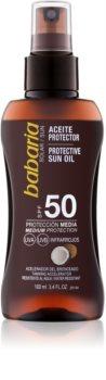 Babaria Sun Protective olio abbronzante in spray SPF 50