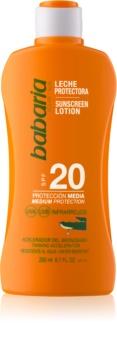 Babaria Sun Protective wasserfeste Sonnenmilch SPF 20