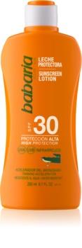 Babaria Sun Protective водостойкое молочко для загара SPF 30