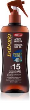 Babaria Sun Protective αντηλιακό λάδι σε σπρέι SPF 15