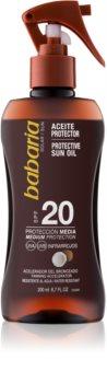 Babaria Sun Protective олио за загар SPF 20