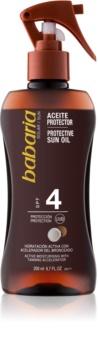 Babaria Sun Bronceadora óleo corporal em spray para estimular bronzeado