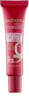 Babaria Rosa Mosqueta crème voor ogen en lippen met 9 effecten