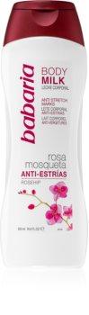 Babaria Rosa Mosqueta Intensiv kropsmælk til at behandle strækmærker
