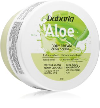 Babaria Aloe Vera Moisturizing Body Cream for Sensitive Skin