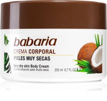 Babaria Coconut creme rico hidratante para pele muito seca