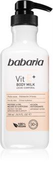 Babaria Vitamin E lait corporel hydratant pour peaux sèches