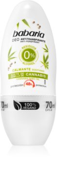 Babaria Cannabis anti-transpirant roll-on  effet 48h