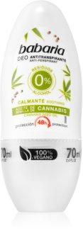 Babaria Cannabis antitraspirante roll-on con effetto 48 ore