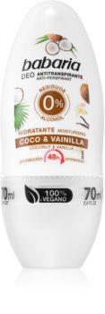 Babaria Coconut & Vanilla antiperspirant roll-on cu o eficienta de 48 h