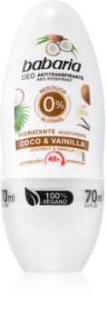 Babaria Coconut & Vanilla Roll-on antiperspirant  Med 48 timmars effektivitet