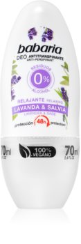 Babaria Lavanda & Salvia Antitranspirant Roll-On met 48-Uurs Werking
