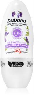 Babaria Lavanda & Salvia roll-on antibacteriano com efeito de 48 horas