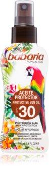 Babaria Tropical Sun слънцезащитно масло за постигане на тен SPF 30