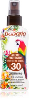 Babaria Tropical Sun huile protectrice activatrice de bronzage SPF 30