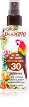 Babaria Tropical Sun óleo protetor ativador do bronzeado SPF 30