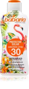Babaria Tropical Sun защитно мляко за загар SPF 30