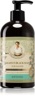 Babushka Agafia Softening sabonete negro para mãos