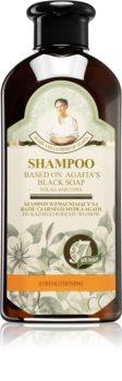 Babushka Agafia Black Soap posilující šampon černý