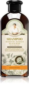 Babushka Agafia Black Soap šampon za okrepitev las črni