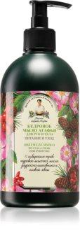 Babushka Agafia Pine sabonete líquido para mãos e corpo