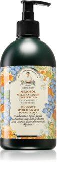 Babushka Agafia Honey sabonete líquido para mãos e corpo