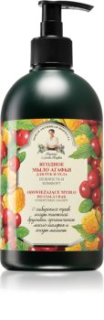 Babushka Agafia Berry sabonete líquido para mãos e corpo