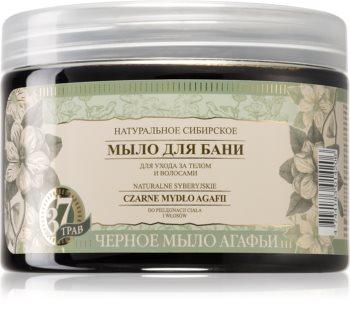Babushka Agafia Natural Siberian sabonete negro para corpo e cabelo