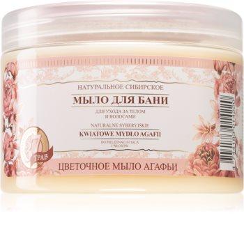 Babushka Agafia Natural Siberian čisticí mýdlo na tělo a vlasy
