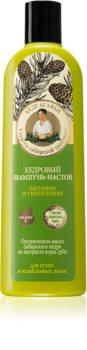 Babushka Agafia Cedar питательный шампунь для ослабленных волос