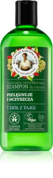 Babushka Agafia Deep Cleansing & Care 7 Taiga Herbs глубоко очищающий шампунь