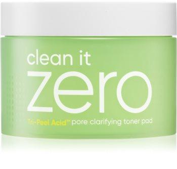 Banila Co. clean it zero pore clarifying disques nettoyants exfoliants anti-pores dilatés
