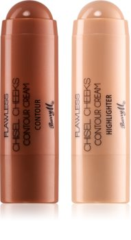 Barry M Flawless Chisel Cheeks Creamy Bronzer and Highlighter In Stick