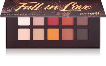 Barry M Fall in Love paletă cu farduri de ochi cu oglinda mica