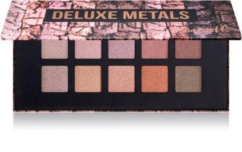 Barry M Deluxe Metals paletă cu farduri de ochi cu oglinda mica