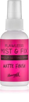 Barry M Flawless Mist & Fix матиращ и фиксиращ спрей върху фон дьо тен