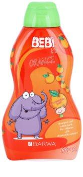 Barwa Bebi Kids Orange Shampoo und Badeschaum 2 in 1