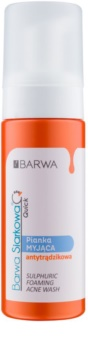 Barwa Sulphur Quick espuma de limpeza para pele problemática