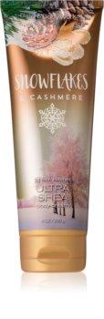 Bath & Body Works Snowflakes & Cashmere telový krém pre ženy 226 g