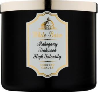 Bath & Body Works White Barn Mahogany Teakwood High Intensity doftljus