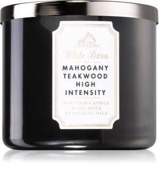 Bath & Body Works White Barn Mahogany Teakwood High Intensity candela profumata