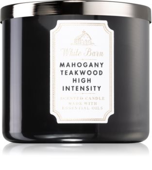 Bath & Body Works White Barn Mahogany Teakwood High Intensity scented candle I.