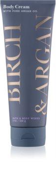Bath & Body Works Birch & Argan Körpercreme für Damen