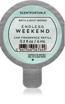 Bath & Body Works Endless Weekend illat autóba utántöltő